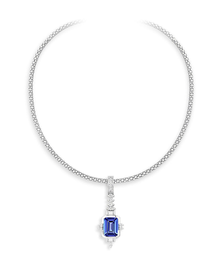 pendant pendants kings section tanzanite of oval classic diamonds