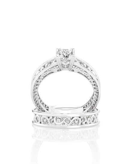 Brisa Engagement Ring and Wedding Band