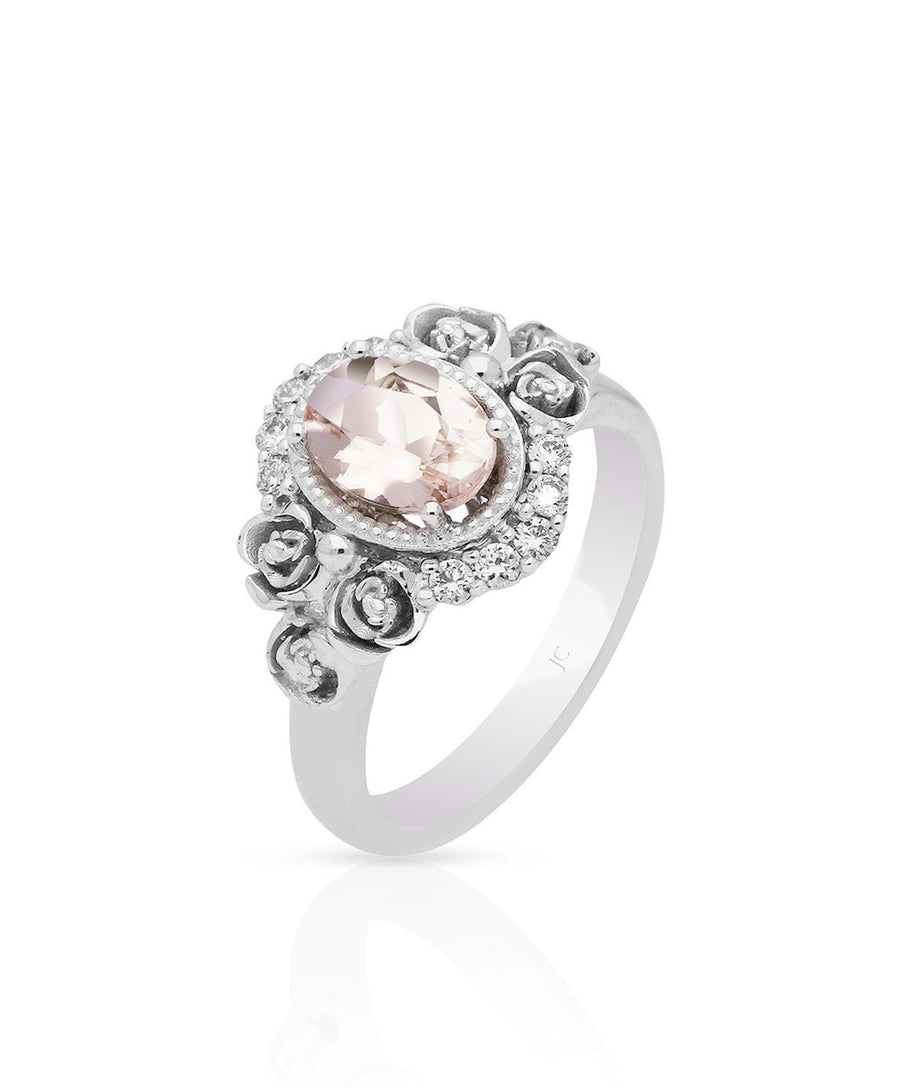 April Morganite Engagement Ring