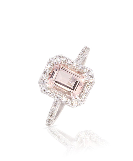 Elora Morganite Engagement Ring