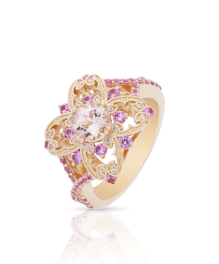 Carina Morganite Engagement Ring