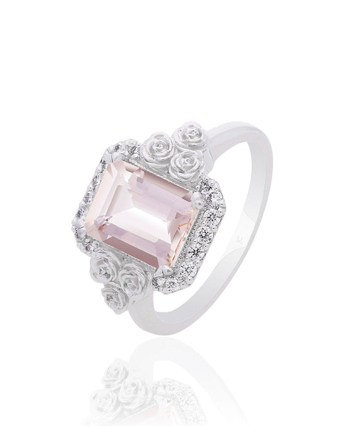 Mila Morganite Engagement Ring
