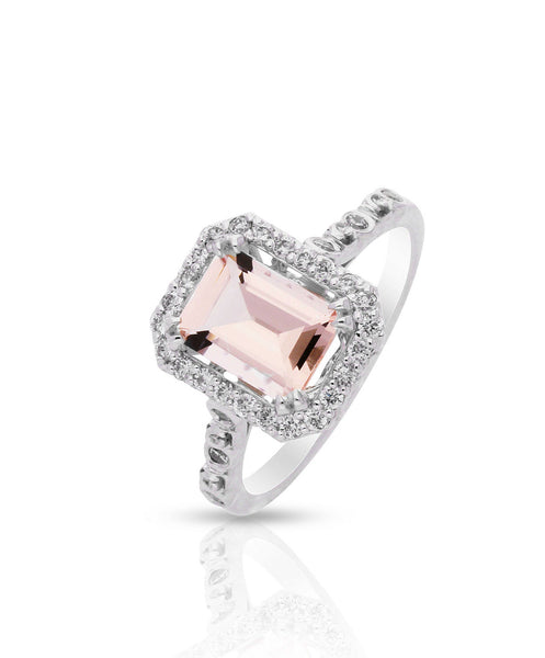 Daniella Morganite Engagement Ring