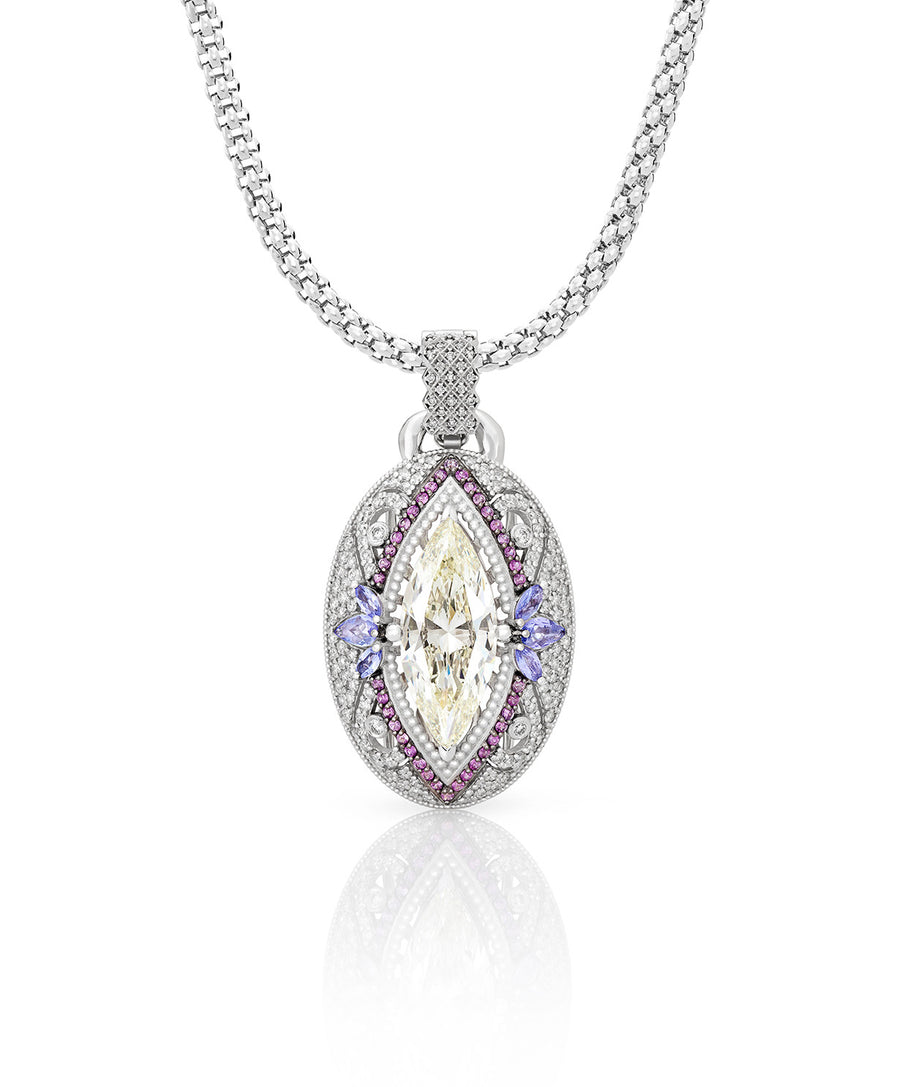 Marquise Cut Diamond Pendant