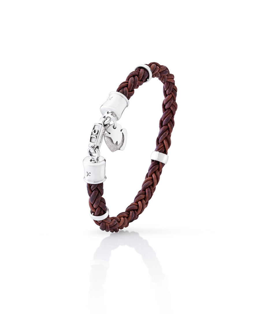 Gent's Leather Rhino Bracelet