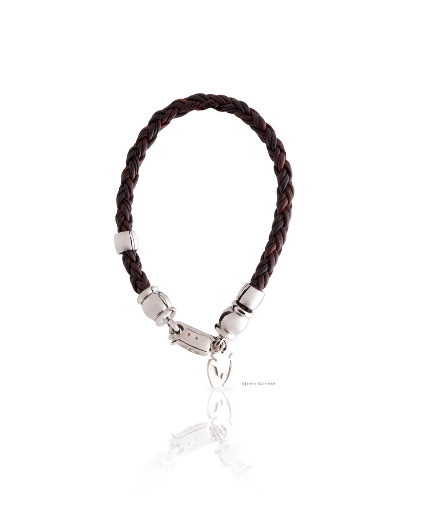 Ladies Slim Leather Rhino Bracelet