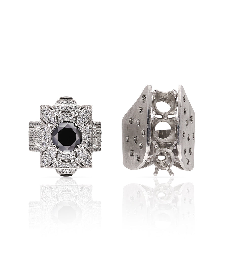Black Diamond Dress Ring