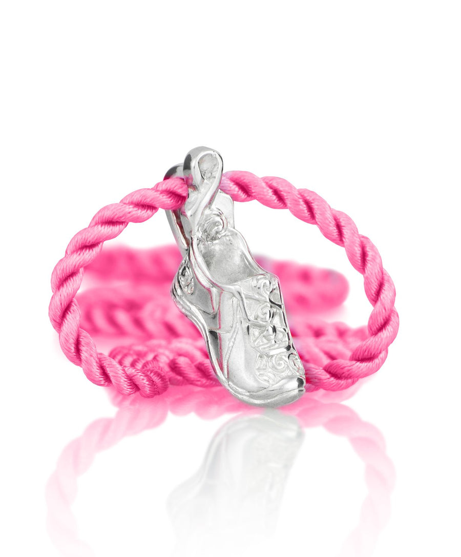 Breast Cancer Running Shoe Pendant