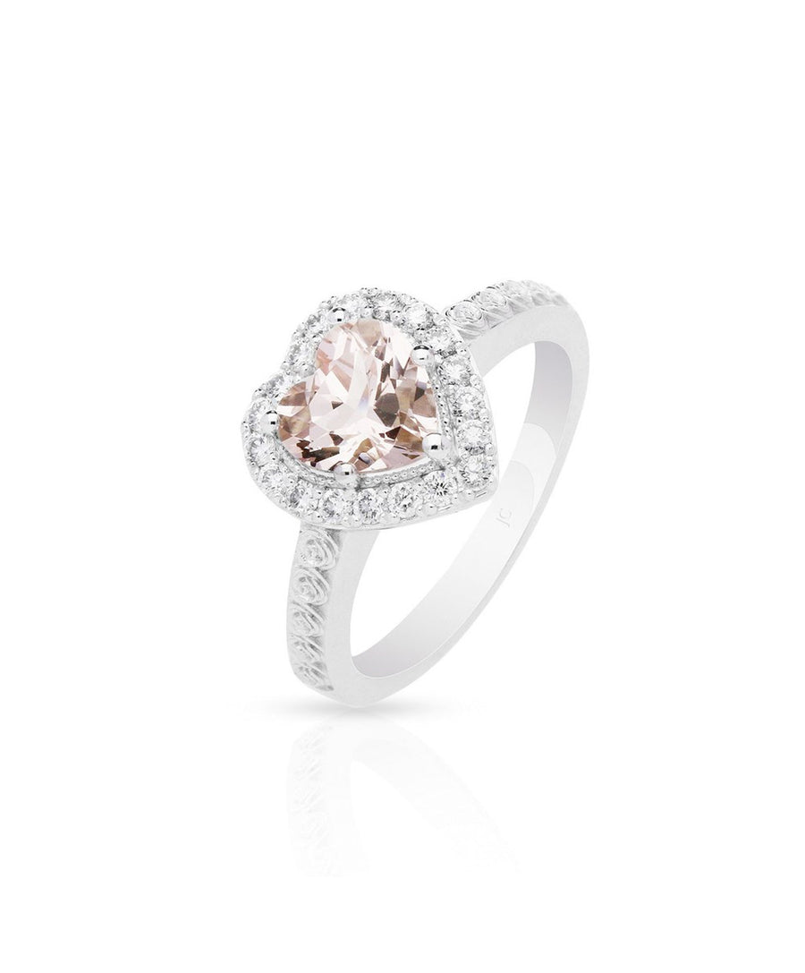 Michella Morganite Engagement Ring