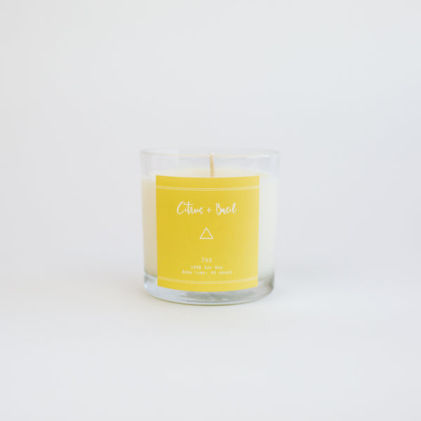 Citrus + Basil - Candle