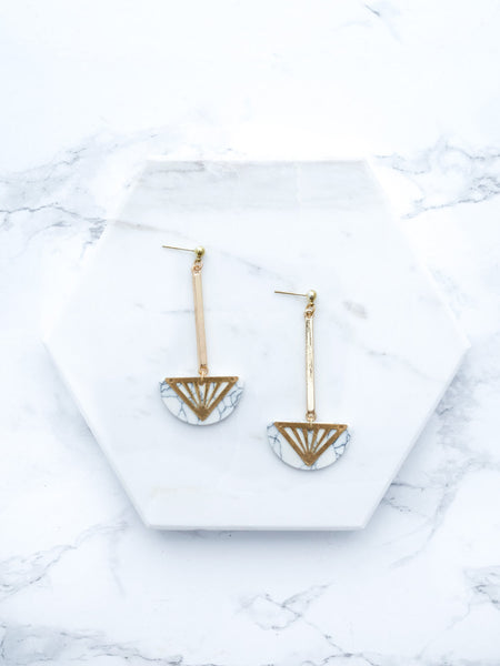 Marble Drop Modern Earrings