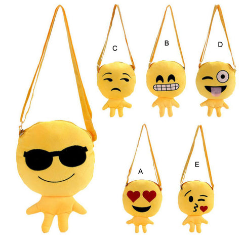 Cute Emoji Emoticon Shoulder School Bag