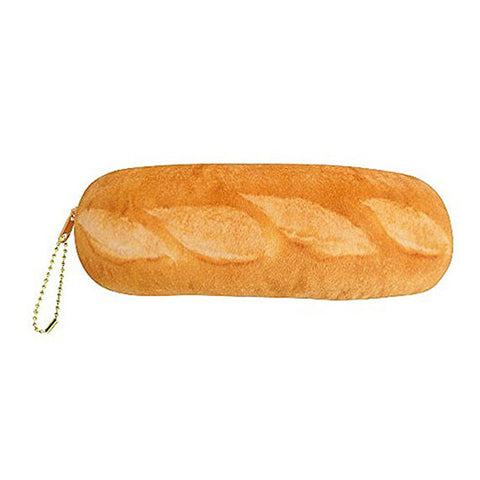 Simulation Cheese Bread Pencil Case Large Capacity Pencil Case Purse Wallet for School Stationery (Yellow)