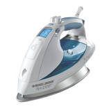 Black & Decker D6000 All-Temp Steam Iron with Stainless-Steel Soleplate