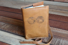 World Globes Leather Journal, journals - In Blue Handmade