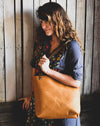 Handmade Classic Leather Tote Bag Medium,  - In Blue Handmade