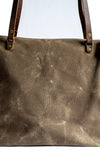 Handmade Waxed Canvas Lined Zipper Tote Small,  - In Blue Handmade