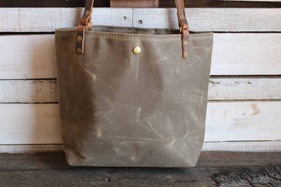 Leather Handmade Tote Bag Lined