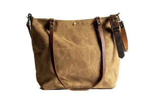 Handmade Waxed Canvas Tote Bag