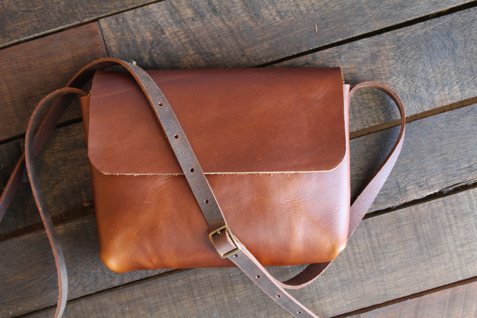 Leather Satchel | Small Crossbody Bag | Leather Bag