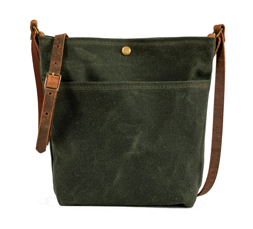 Waxed Canvas Bag | Tote Bag | Crossbody Bag | Small