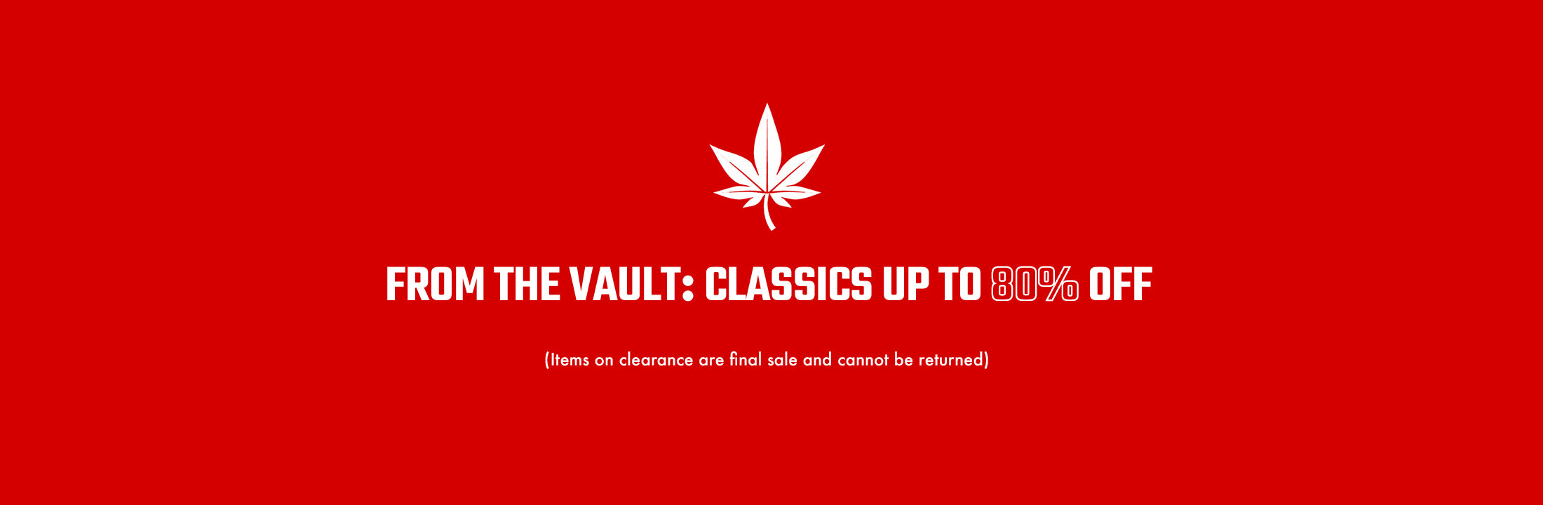 Classics Up to 80% Off