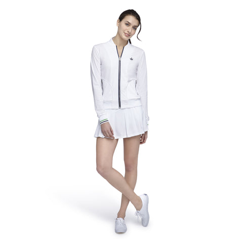 Court Zip-Up - White