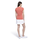 Women's V-Neck Texture Tennis Tee - White