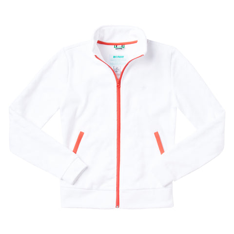 Quilted Bomber Jacket - White