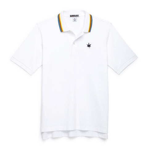 Multi Tipped Polo - White