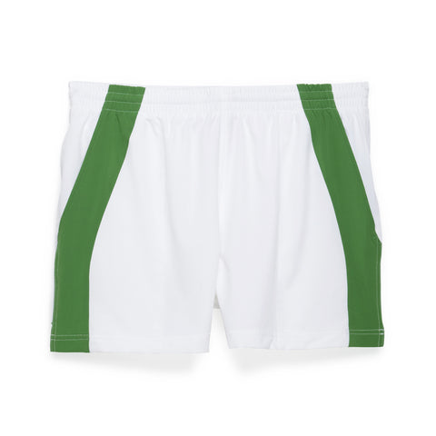 "Edge Panel 4"" Match Short - White with Green"