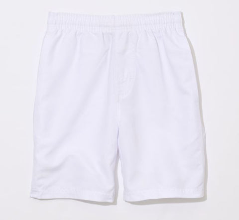 "Boy's Solid White 7"" Athletic Short"