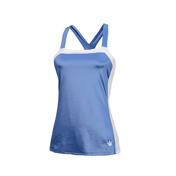 Racerback Tennis Tank - Carolina Blue
