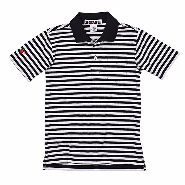 Boys' Striped Pocket Polo