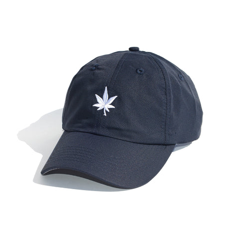 CLASSIC PERFORMANCE LEAF LOGO HAT - NAVY