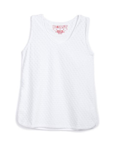 Dotted Sport Tank - White