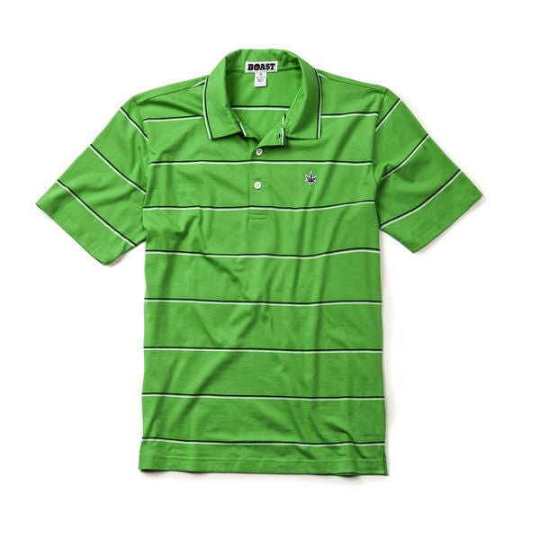 Jersey Striped Polo - Classic Green