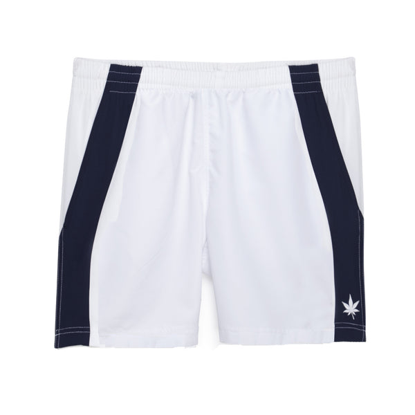 "Edge Panel 7"" Short - White with Navy"