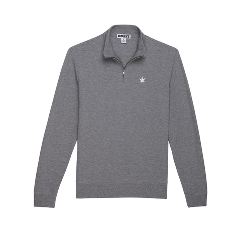 Cotton Double-Face Quarter Zip