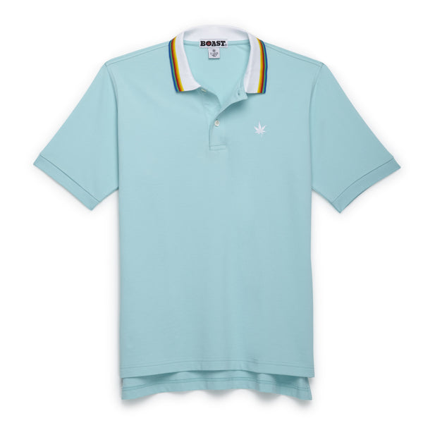 Multi Tipped Polo - Aqua
