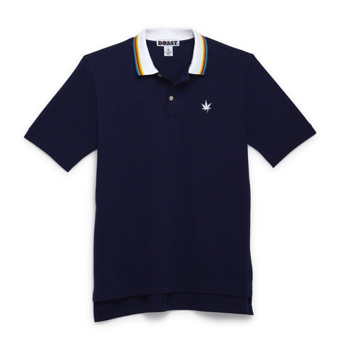 Multi Tipped Polo - Navy