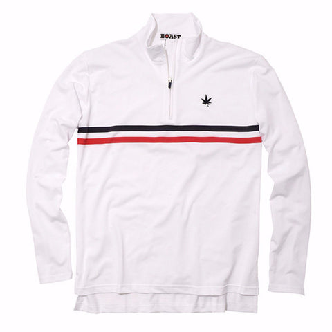 Men's Court Quarter Zip with Chest Stripe