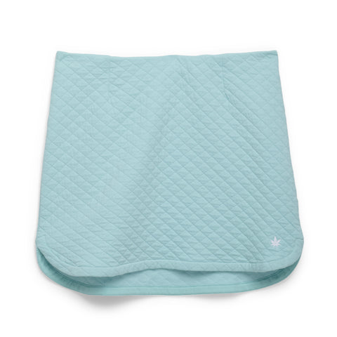 Quilted Skirt - Aqua