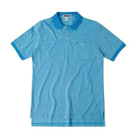 Pocket Pique Polo-Mediterranean Blue
