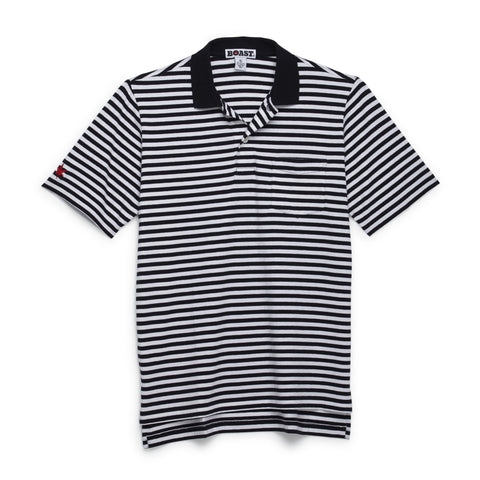 Men's Striped Pocket Polo