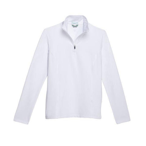 Women's 1/4 Zip with Pockets - White