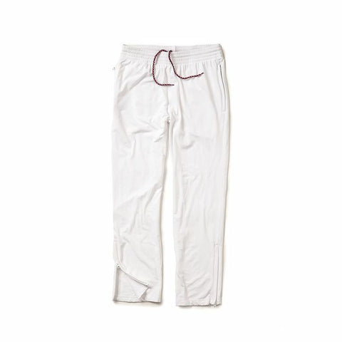 Zip Leg Sweatpant - White