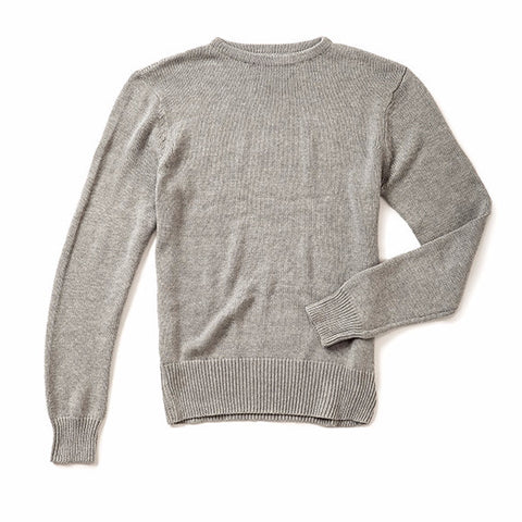 Boatneck Sweater - Heather Grey