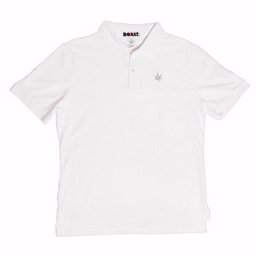 Solid Classic Choose Your Leaf Polo - White Leaf