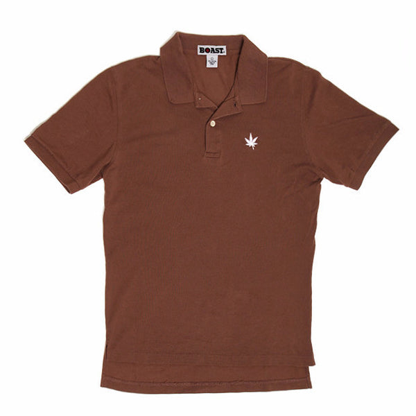 Classic Solid Pique Polo - Brown